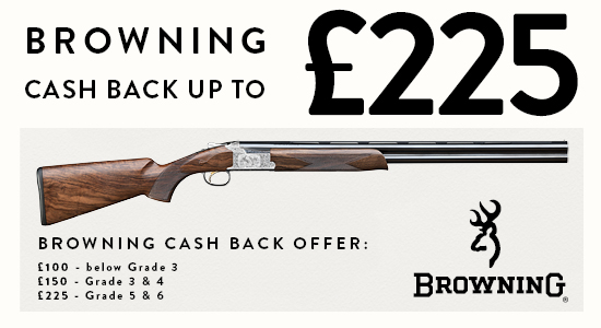 Browning cash back up to £225